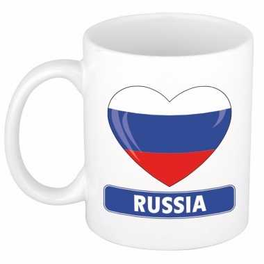 Russische vlag hart mok / beker 300 ml