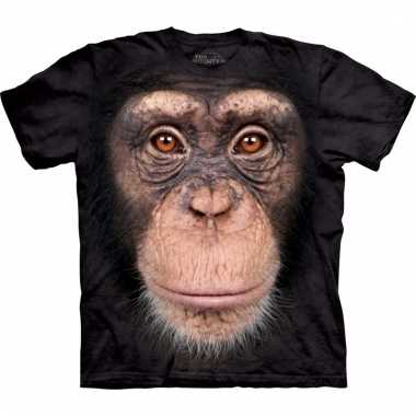 Safari dieren shirts chimpansee aap voor kinderen