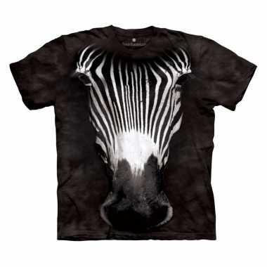Safari dieren shirts zebra voor kinderen