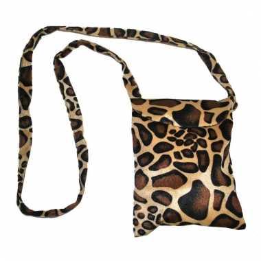 Safari print schoudertas giraffe