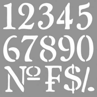 Schilder sjabloon voor cijfers