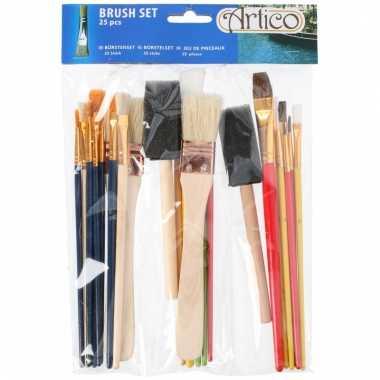 Schilders penselen voor kinderen 25 stuks