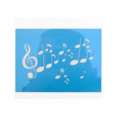 Schmink sjabloon muzieknoot