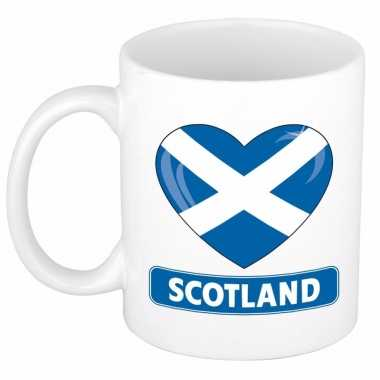 Schotse vlag hart mok / beker 300 ml