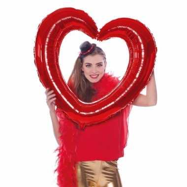Selfie foto frame hart rood 80 x 70 cm