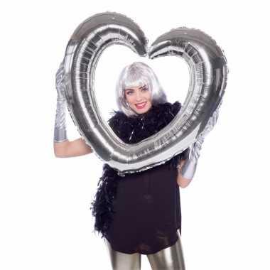 Selfie foto frame hart zilver 80 x 70 cm
