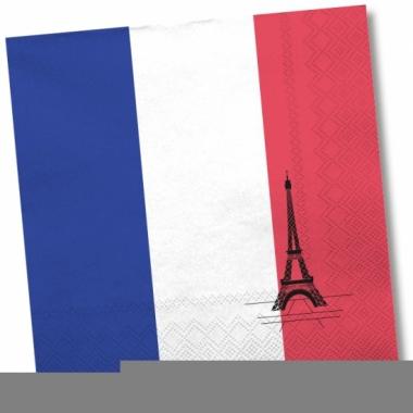 Servetten met vlag van frankrijk 20x
