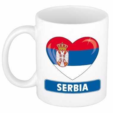 Servische vlag hart mok / beker 300 ml