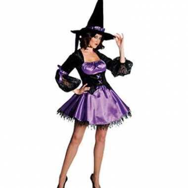 Sexy heksen jurk afgezet met kant