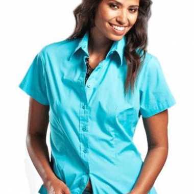 Shortsleeve dames overhemd