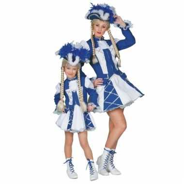 Showdans pakje voor meiden blauw met wit