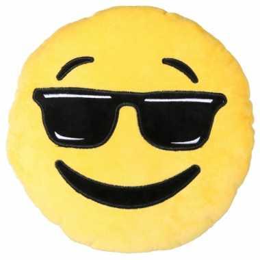 Sierkussen emoticon cool 30 cm