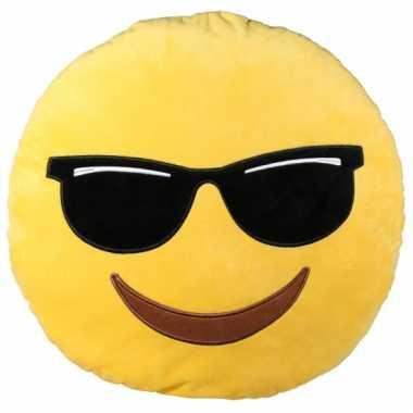 Sierkussen emoticon cool 50 cm