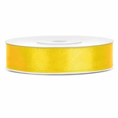Sierlint satijn 25 meter lang geel