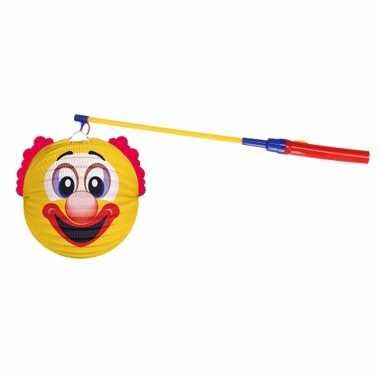 Sint maarten lampionset gele clown 22 cm