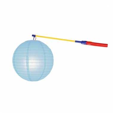 Sint maarten lampionset lichtblauw 25 cm