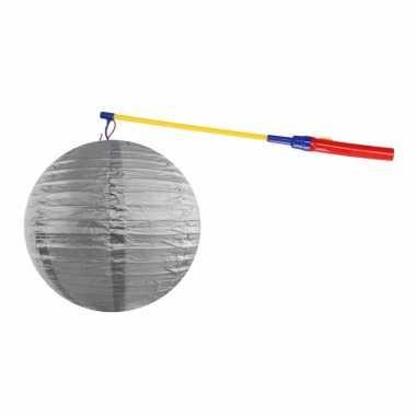 Sint maarten lampionset zilver 35 cm