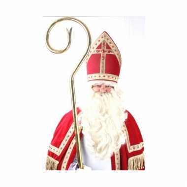 Sinterklaas pruik met baard en snor