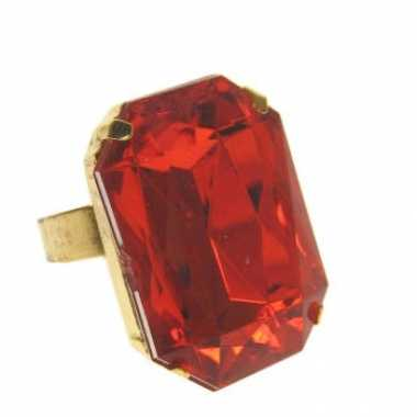 Sinterklaas ring met rode steen