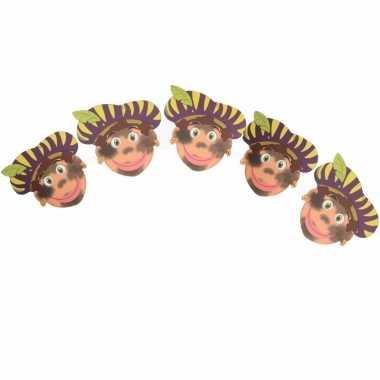 Sinterklaas slinger pieten met paarse baret