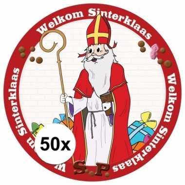 Sinterklaas viltjes 50 stuks