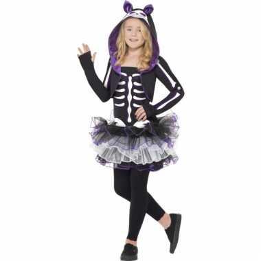 Skelleten kostuum kat voor meisjes
