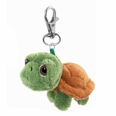 Sleutelhanger met schildpad groen