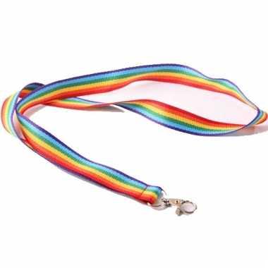 Sleutelkoord regenboog 90 cm