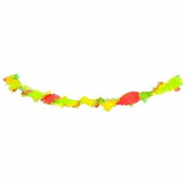 Slinger neon kleuren van crepe 18 meter
