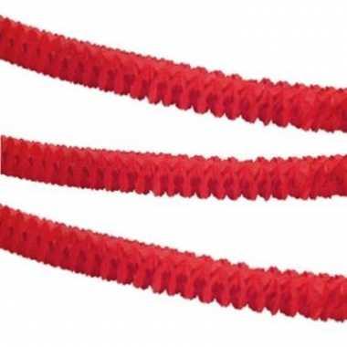 Slinger rood papier 3,6 m