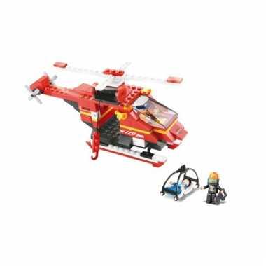 Sluban bouwpakket reddings helikopter 28,5 x 19 cm