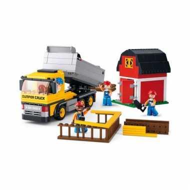 Sluban bouwstenen kiepwagen