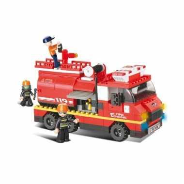 Sluban brandweerwagen met waterkanon 28 5 x 28 5 cm
