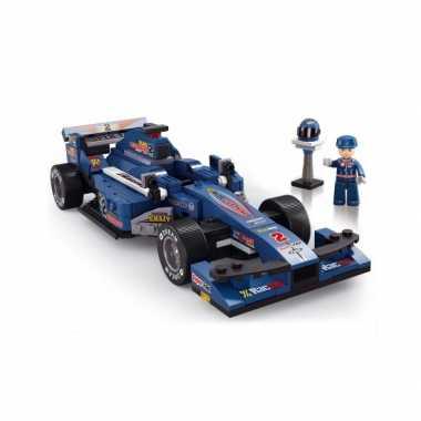 Sluban racewagen f1 blauw