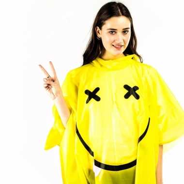 Smiley rave regenponcho