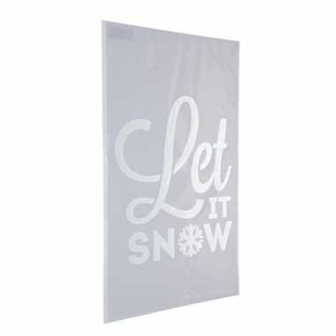 Sneeuwspray sjabloon let it snow 54 cm type 2