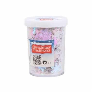 Sneeuwvlok confetti parelmoer 45gram