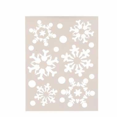 Sneeuwvlok raamsjablonen 21 x 30 cm