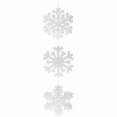 Sneeuwvlok van piepschuim 49 cm 1x