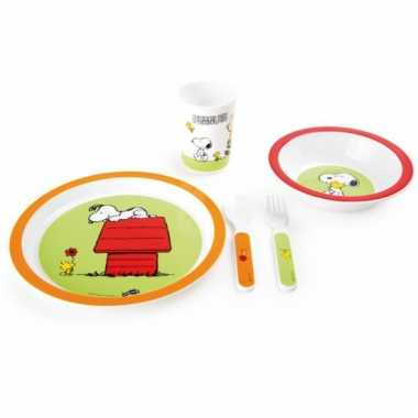 Snoopy ontbijtset voor kinderen 5-delig