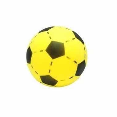 Softbal geel met voetbalprint