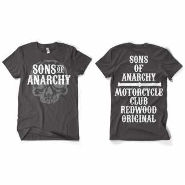 Sons of anarchy kleding heren shirt grijs