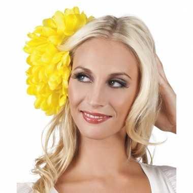 Spaanse bloem haarklem geel 20 cm