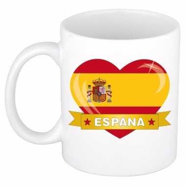 Spaanse vlag hartje mok / beker 300 ml