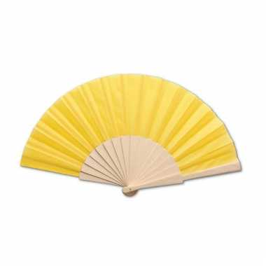 Spaanse waaier geel 42 x 23 cm