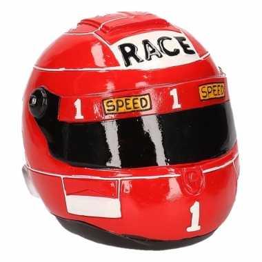 Spaarpot race helm rood