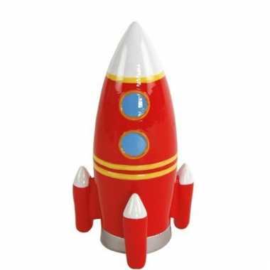 Spaarpot ruimte raket rood