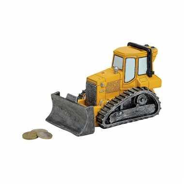 Spaarpot van een bulldozer 17 cm