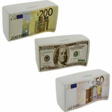 Spaarpotten 50 euro keramisch 16.5 cm