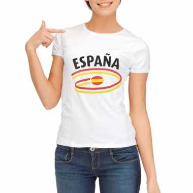 Spanje vlaggen t-shirts voor dames